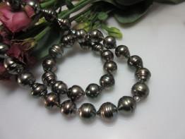 Tahitiperlenkette / Strang mit barocken Perlen 9-10mm Nr.19