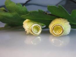 ZS157 -- 2 St. ganz dicke Biegeösen 8mm, Abschluß Kette