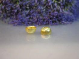 ZS74 --4 Zwischenelemente 925er vergold. Perlkappen 6mm