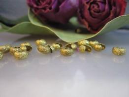 DZ92 --10 diamantierte Kaschierperlen Farbe Altgold 5mm