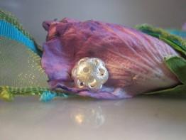 """ZS62 -- Zwischenelement """"filigrane Blüte"""" 925er Silber"""