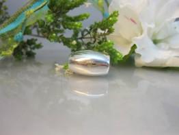 ZS170 -- Ovalolive 925er Silber große Bohrung/für Leder