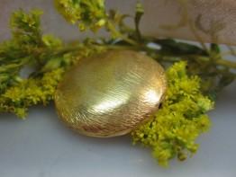 ZS507 -- Neu : Kupfer vergoldet-mattiert Riesenlinse 26mm