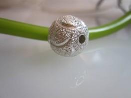 ZS543 -- Neu : 2 Stück Kugel diamantiert Kupfer versilbert