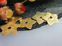 ZS554 -- Neu : 10 Stück Sterne 12mm Kupfer vergoldet