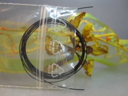 1m hochflexible Stahllitze,Farbe schwarz 0.36mm,49-fach
