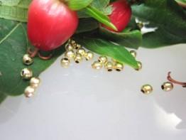 ZS564 -- Neu : 20 Stück Miniaturkugel Kupfer vergoldet