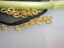 ZS565 -- Neu : 20 Stück Biegeösen Kupfer vergoldet 5mm