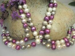 Zuchtperlenkette 160cm, Endloskette Perlen