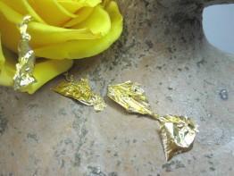10 Stück echtes Blattgold 24 Karat (999/1000/) Größe 35x35mm
