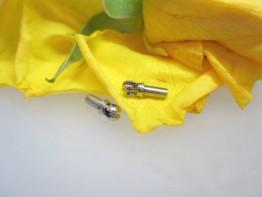 2 Stück Wechselschließen-Schlüssel Stahl / Perlgarn