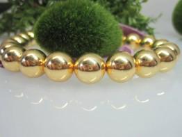 ZS622 -- Neu : 5 Stück Kugel hochglanz 12mm Kupfer vergoldet