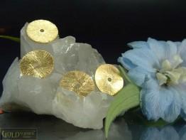 ZS605 -- Neu : 5 Stück Scheibe mattiert 12mm Kupfer vergoldet