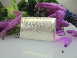 ZS615 -- Neu : 1 Stück Zwischenteil Kissen Kupfer versilbert