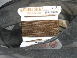 Braunes Perlgarn aus Naturseide/2m (1m=1,5 Euro)