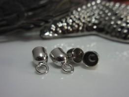 Abschlusskappe Silber 4mm Durchmesser 2 Stück DZ23