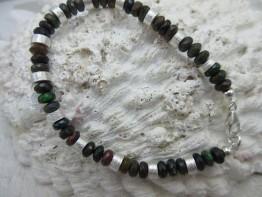 Armband schwarzer Opal
