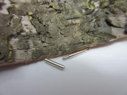 Bajonettschliesse Silber 19mm lang Durchmesser 2mm Nr.KS68