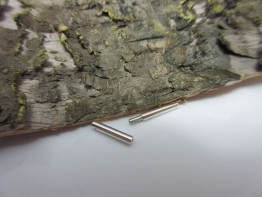 Bajonettschliesse Silber 16mm lang Durchmesser 1,8mm KS68