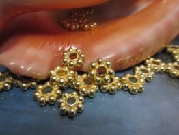 Beads für Kette, 1 St. großer Kugelstern 925er verg. ZS178
