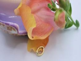 Biegeöse oval /Bindering 6x4mm 14ct Gelbgold 1 Stück GZ105