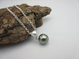 Collier Tahitiperle - Silberkette Perle 12,4mm Modell 2