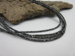 Diamanten Strang schwarz - facettierte Linsen 12,1ct