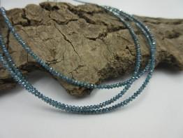 Diamanten Strang blaugrün - facettierte Linsen 13,2ct