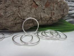 Großer Ring Silber, 925er Bindering 19mm DZ90