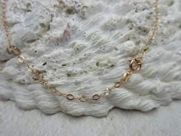 Halskette Ankermuster 925er Silber rotvergoldet