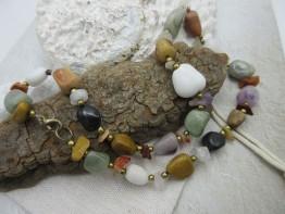 Halskette mit Edelsteinnuggets nur 7,99 Euro