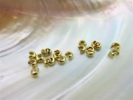 Kaschierkugeln Echtsilber vergoldet 3mm 2 Stück Modell DZ170