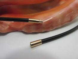 Kautschuk Kette 3mm mit Bajonettverschluss in 333er Gold