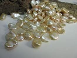 Keshiperle Süßwasser, einzelne Perle ungebohrt - barock