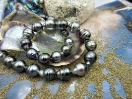 Kette mit Tahitiperlen, barocke Perlen 8-10mm Durchmesser