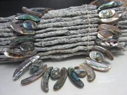 Kette Seeohren / Seeopal-Abalone Collier 2 Formen