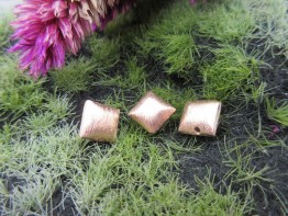Kissen echtsilber rosevergoldet 8x5mm 2 Stück Modell ZS106