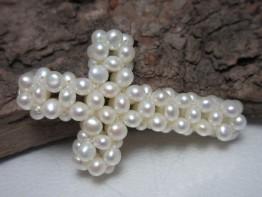 Kreuz aus Perlen, Saatperlen geknüpft Kreuzform nur 9,90 Euro