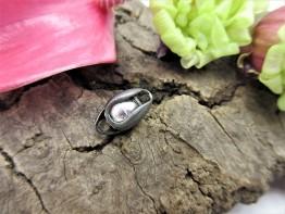 Langer Infinity 925er schwarz Silber 14x6mm Modell 51
