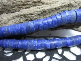 Lapis günstig - Strang riesige mattierte Scheiben tiefblau