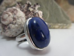 Lapislazuli Ring, Edelstein mit 25x19mm AAA Qualität
