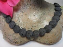 Lava Scheiben mit natürlicher Porung 15x5mm