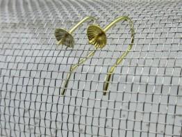 Ohrhaken 585 aus Gelbgold mit 5mm Schüssel 2 Stück GZ27