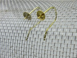 Ohrhaken 333 aus Gelbgold mit 4mm Schüssel 2 Stück GZ34