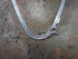Omegakette Silber 925er, stabil und preiswert, Länge 76cm