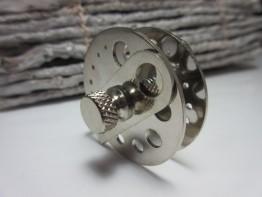 Halterung aus Stahl zum Perlen selber bohren