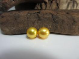 Perlen goldfarben 2 Stück angebohrt 8,0-8,5mm AAA+