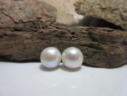 Perlen lose Ohrschmuck,2 Stück 11mm Süßwasserperlen Nr.3