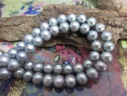 Perlen silberfarben silbern 10mm rund 1A Qualität Modell 5