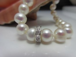 Perlenarmband Silber mit modischem Echtsilbereinhänger
